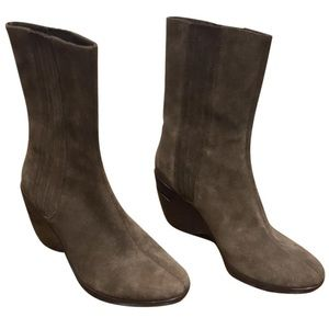 Brown Suede Cole Haan Booties- NEW w/o tags